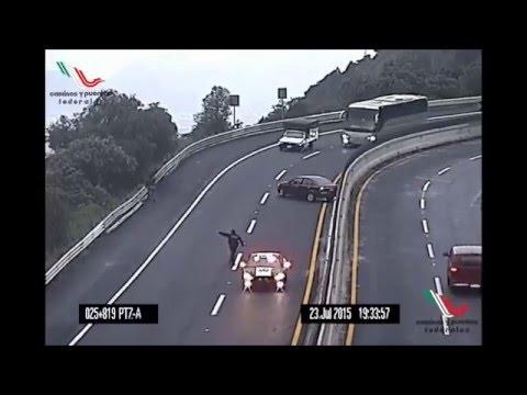 Choques en vivo autopistas de  México CAPUFE SCT