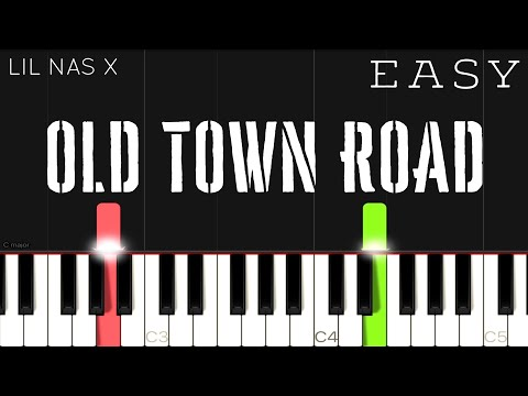 Lil Nas X - Old Town Road ft. Billy Ray Cyrus   EASY Piano Tutorial