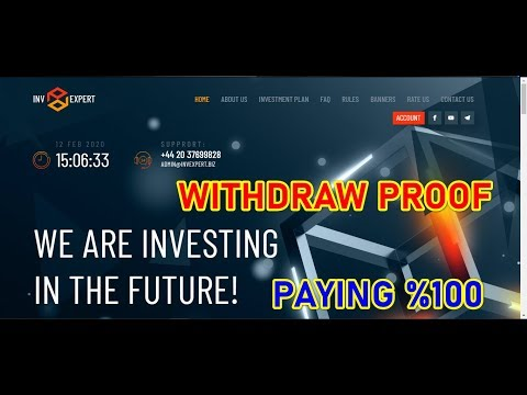 PROOF OF WITHDRAW 😍invexpert.😍🔥3000% AFTER 30 DAYS🔥Registerd Company