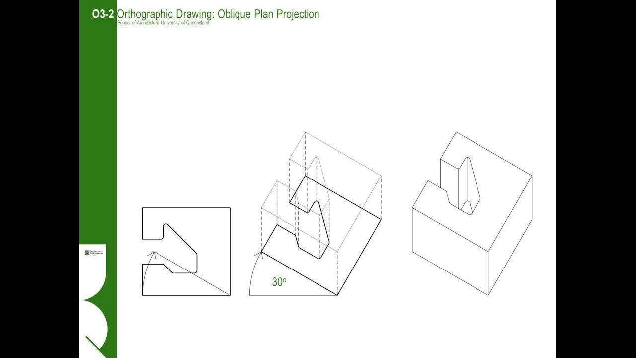 Plan Elevation Oblique : O i oblique plan projection youtube