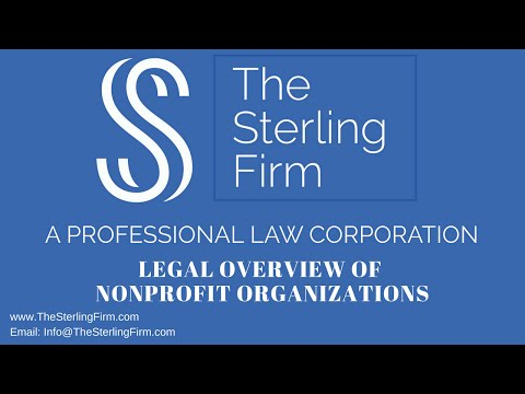 LEGAL OVERVIEW OF NONPROFIT ORGANIZATIONS