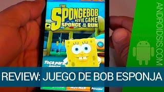 Bob Esponja a la carrera, el vídeo juego para Android de Bob Esponja, héroe fuera del agua