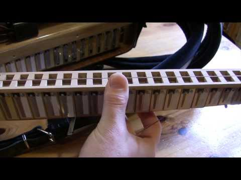 How to fix a sticking reed tongue on an accordion
