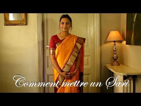 comment mettre un sari ou saree indien youtube
