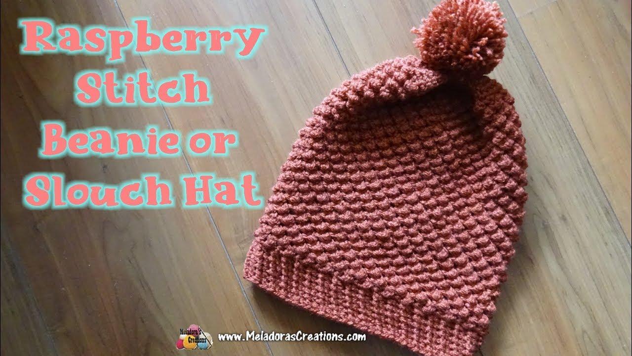 1885bdc483c Crochet Raspberry Slouch Hat - Right Handed Crochet Tutorial - YouTube