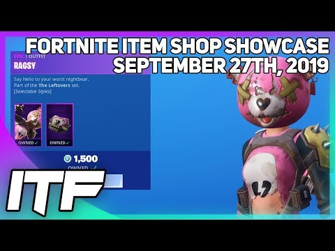 Fortnite Item Shop *NEW* RAGSY SKIN! [September 27th, 2019] (Fortnite Battle Royale)