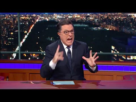 Stephen Colbert Melts Down in Solidarity With Lawrence O'Donnell