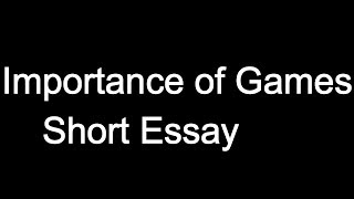 video games should be considered a sport essay