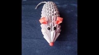 модульное оригами. Мышка. Мастер-класс