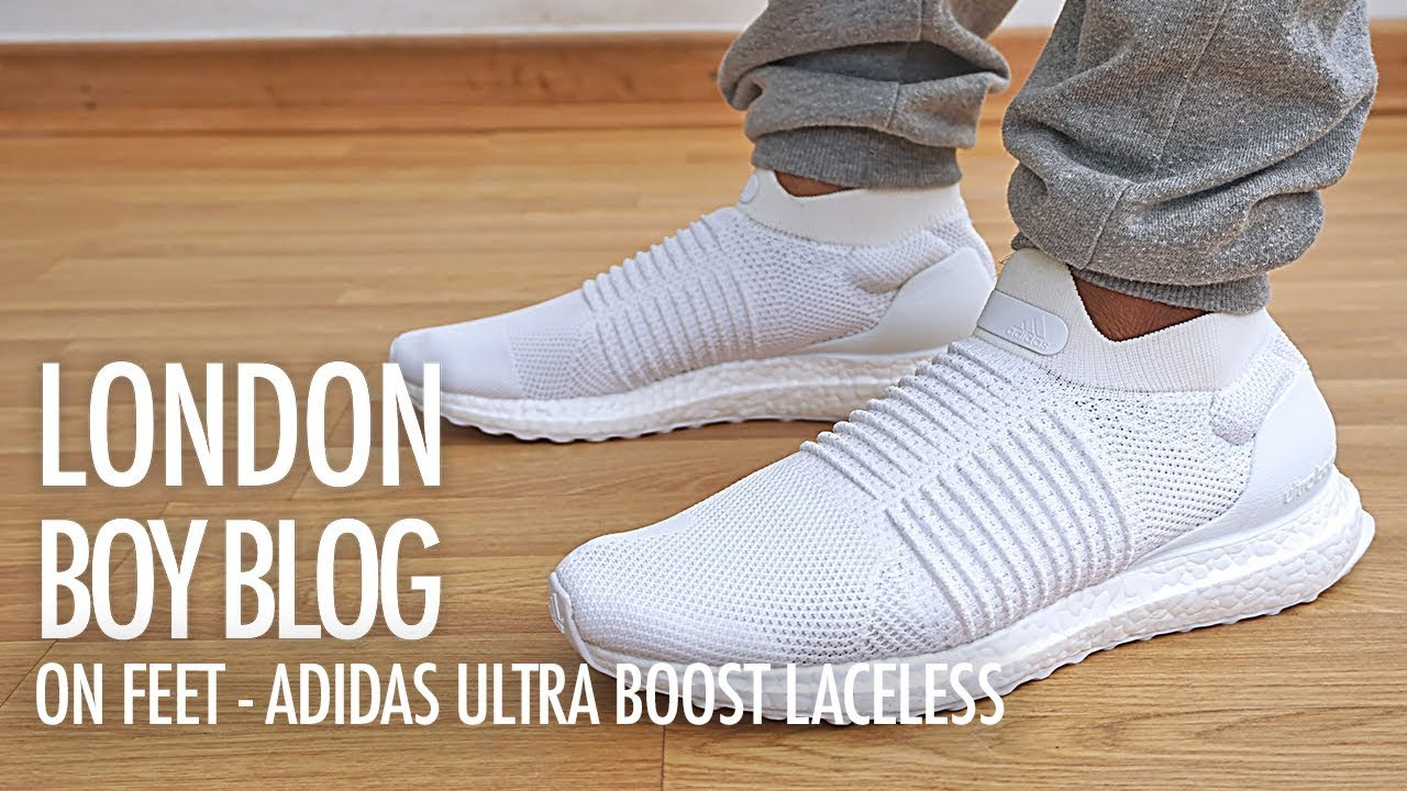a9060f134ca On Feet - Adidas Ultra Boost Laceless - YouTube