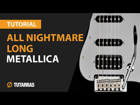How to play ALL NIGHTMARE LONG by Metallica - Electric GUITAR LESSON