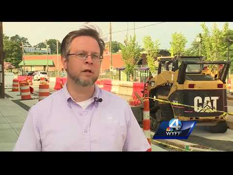 Construction projects underway on Augusta Street in downtown Greenville