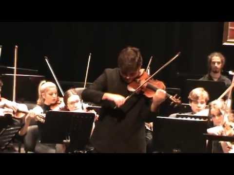 (1ª PARTE)CONCIERTO EN RE M Op. 61 DE  L. V. BEETHOVEN,  CARLOS RAFAEL MARTINEZ ARROYO (VIOLIN)