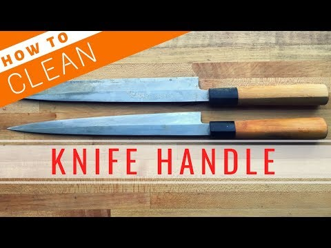 How to Clean Up Knife Handle【Sushi Chef Eye View】