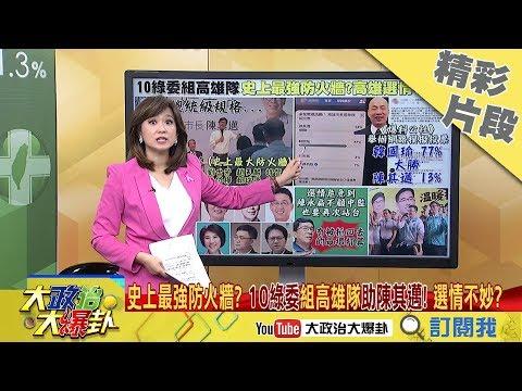【精彩】選情不妙?網路調查77%挺韓國瑜 10綠委組「史上最強防火牆」助陳其邁
