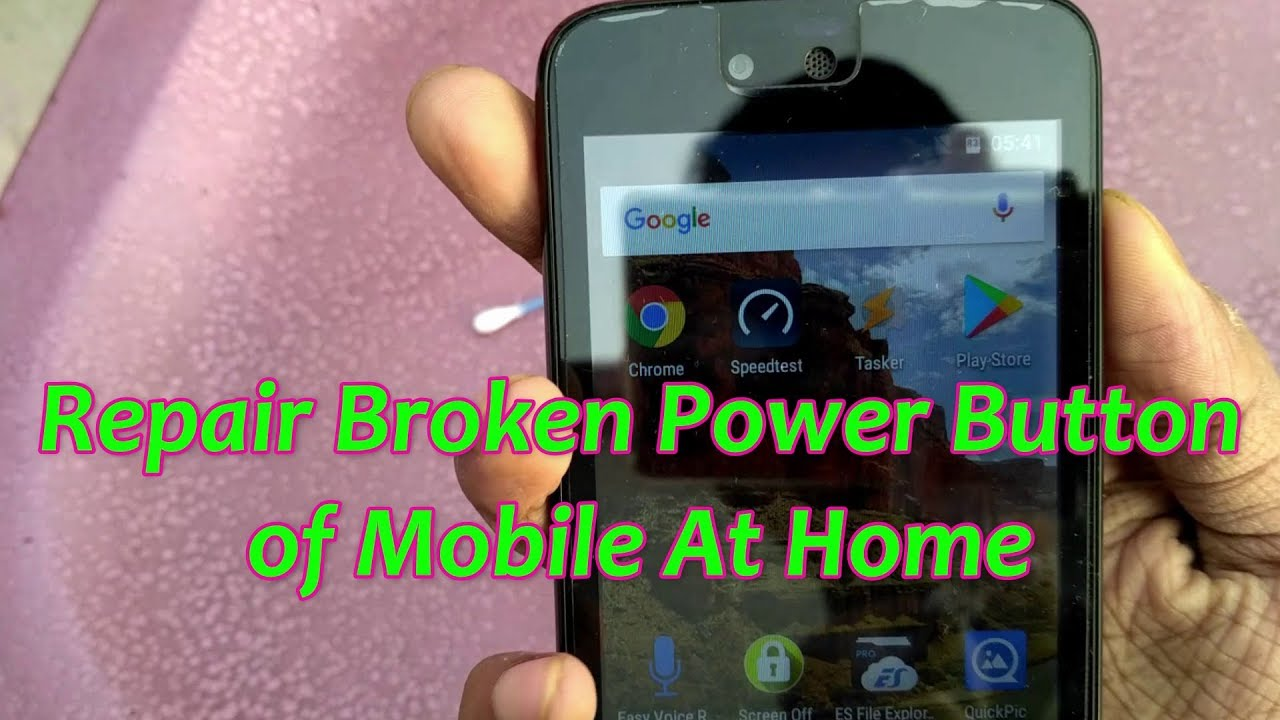Repair Broken Power Button of Android Mobile at Home - DIY LIfe hacks | Som  Tips