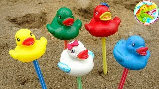 Friends of lovely ducklings, funny sea animals - children's toys H1143 ToyTV