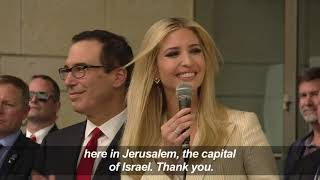 Trump tells Jerusalem embassy ceremony US committed to peace