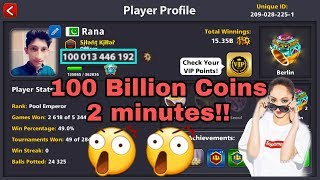 8 Ball Pool_100Billion Coins Trick [1000%working trick 100b coins easily]