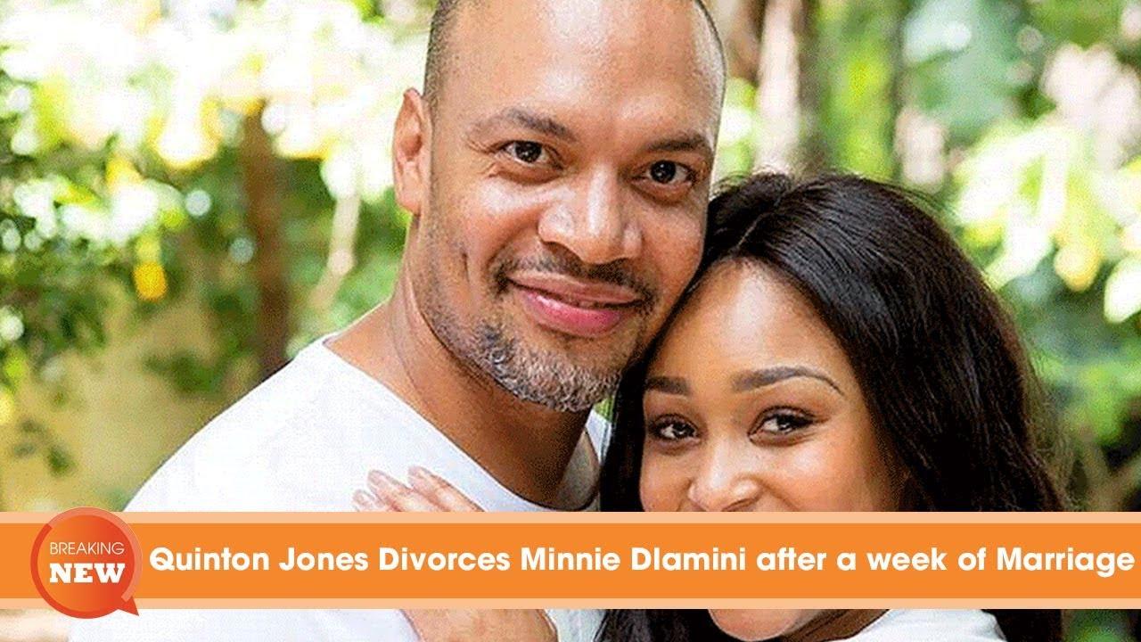 Scandal: Quinton Jones Divorces Minnie Dlamini after a week of Marriage #1