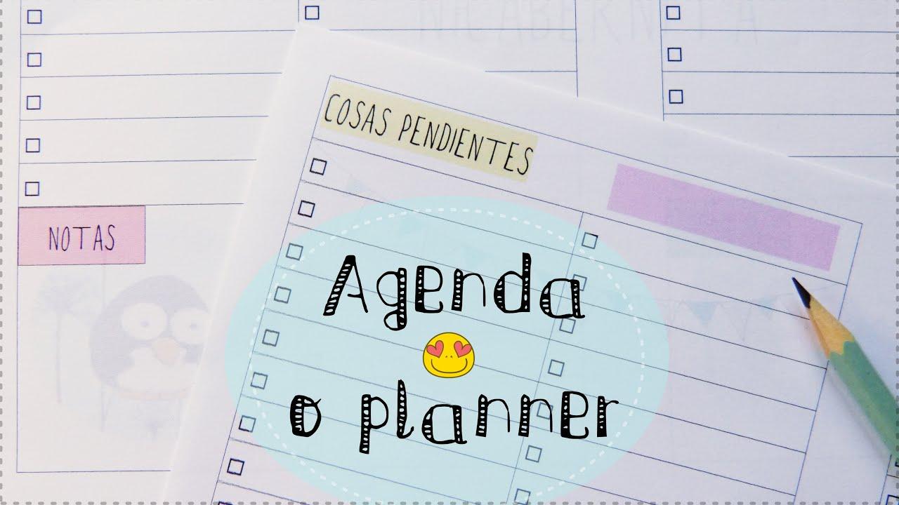 Agenda, listado o planner para imprimir (Regalo de aniversario ...