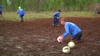 Playing dirty: swamp soccer a hit in Russia ahead of World Cup