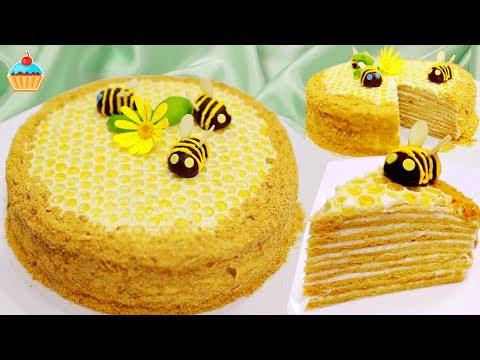 Как украсить торт медовик на день рождения