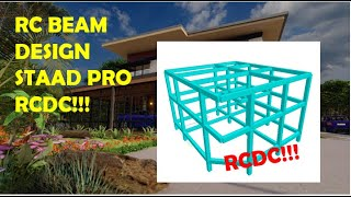 RC BEAM DESIGN FOR 2 STOREY RESIDENTIAL BUILDING USING STAAD PRO RCDC