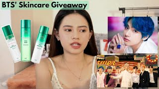 BTS 'Boy with Luv' ft. Halsey' MV Reaction + Trying BTS' Skincare