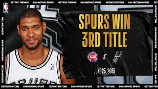 Duncan Leads Spurs To 3rd Championship In Franchise History | #NBATogetherLive Classic Game