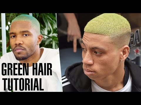 Men's Green Celebrity Inspired Hair Transformation & Hairstyle
