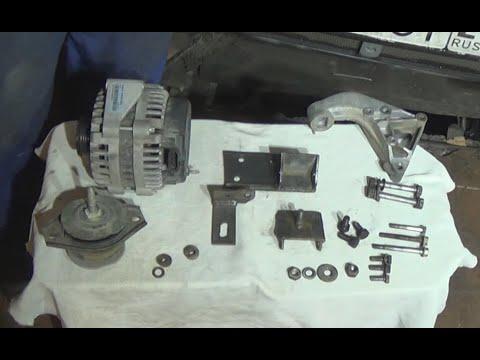 Размеры крепления генератора WPS 253A на ВАЗ 2110 V1.6 8 кл. мотор