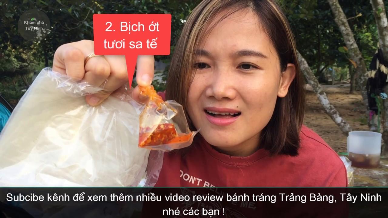 Review bánh tráng phơi sương muối tắc sa tế chánh gốc Trảng Bàng Tây Ninh ngon bùng cháy