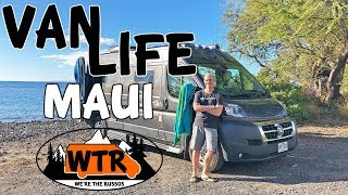 Explore Maui in a Rental Camper Van | Van Life Hawaii Part 1