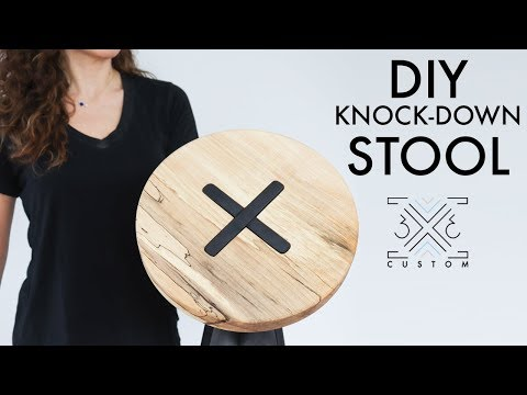 DIY Knock Down Stool or Side Table // Easy Woodworking Joinery // Mortise and Tenon // DIY Project