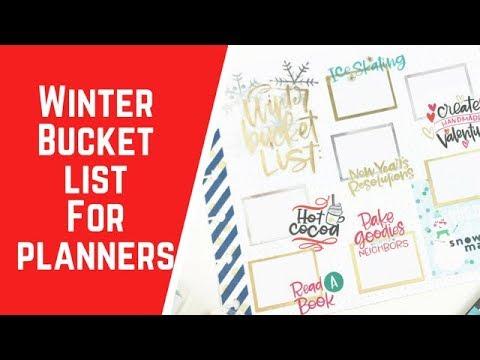 Winter Bucket List for Planner
