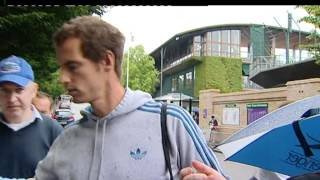 Andy Murray signs autographs for fans ahead of Wimbledon semi-final