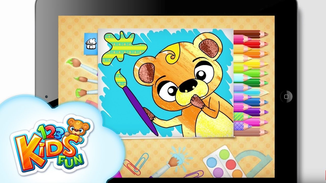 123 kids fun coloring book best educational draw color and painting games for toddlers and preschool