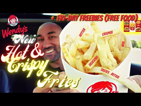Wendys-New-Hot-and-Crispy-Fries-Review-🍟-Fryday-Freebie-Lineup-Free-Food