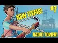 NEW BOW & ARROW + RADIO TOWER!! - THE RAFT! #7