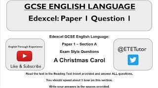 GCSE engelse Taal - Edexcel Papier 1: Afdeling A: Vraag 1
