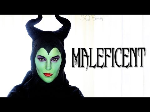 Maleficent cartoon makeup collaboration with GotyMakeup3 | Silvia Quiros