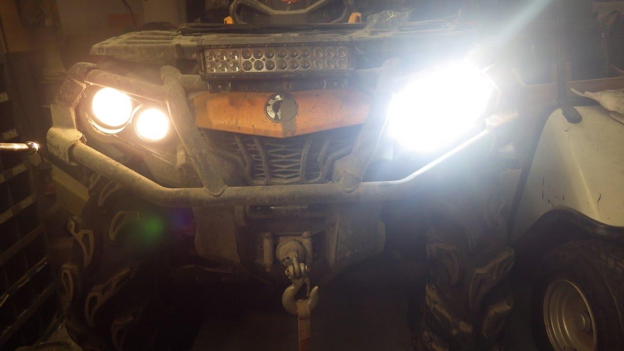Can-Am Outlander LED Lights - YouTube