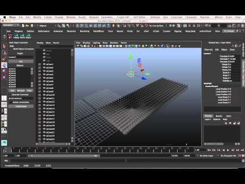 Multi Object Constrain Maya script (FREE!)