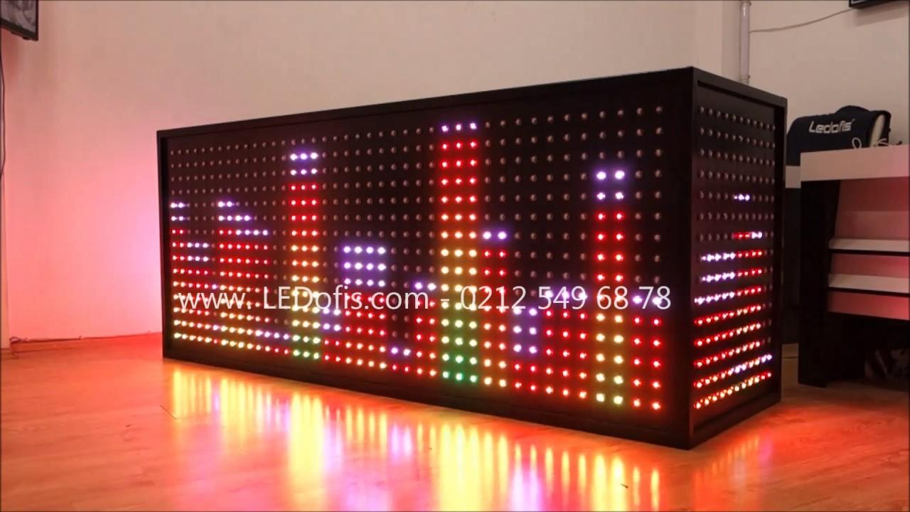 Led Dj Kabin Aydınlatma Led Dj Booth Light 200 90cm Youtube