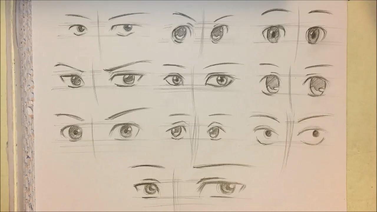 How To Draw Anime Boy Eyes 10 Ways No Timelapse Youtube