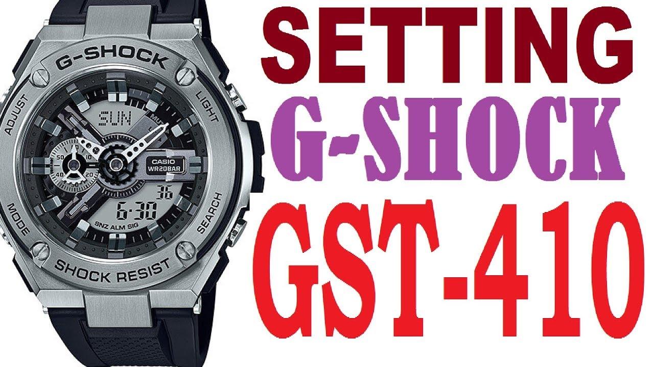 Setting Casio G Shock Gst 410 Manual 5553 Youtube