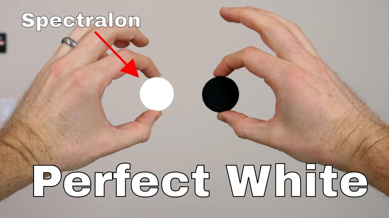 Spectralon The World S Whitest White Reflects Over 99 Of Visible Light Vs Black 3 0