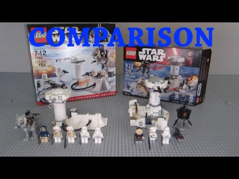 LEGO Star Wars Hoth Attack & Echo Base Comparison! (75138 vs 7749)