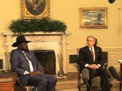 President Kiir in White House